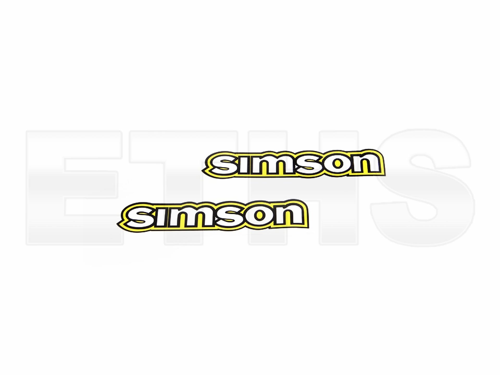 2 Tank Aufkleber Weiß Gelb Für Simson S50