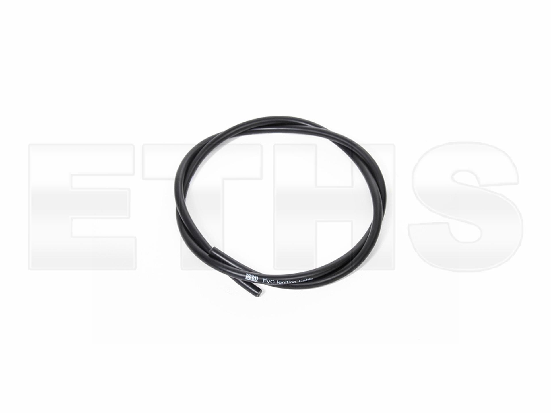 Zündkabel 1m Schwarz PVC (Top Qualität)   MZ und Simson Ersatzteile Shop