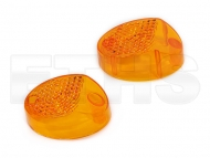 Blinkerkappe Orange (Vorne + Hinten Oval) Simson & ES